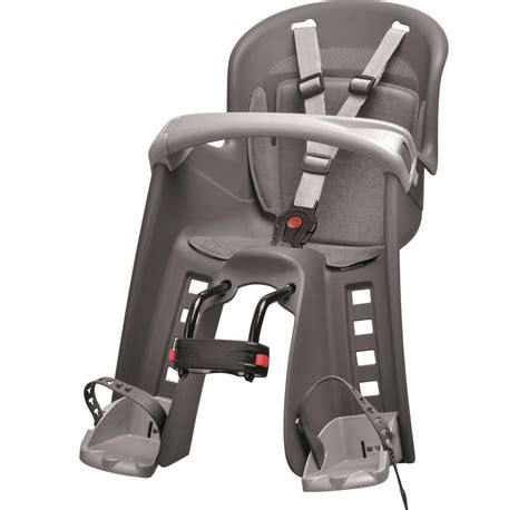 siege vélo bébé polisport bilby junior porte bébé fixation avant gris