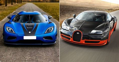 Ranking The Fastest Cars In The World, Slowest To Fastest