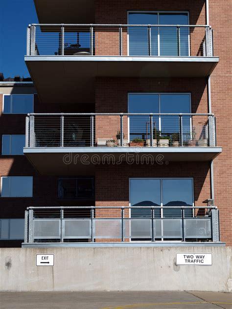Exterior Apartment Balconies Stock Photo  Image Of