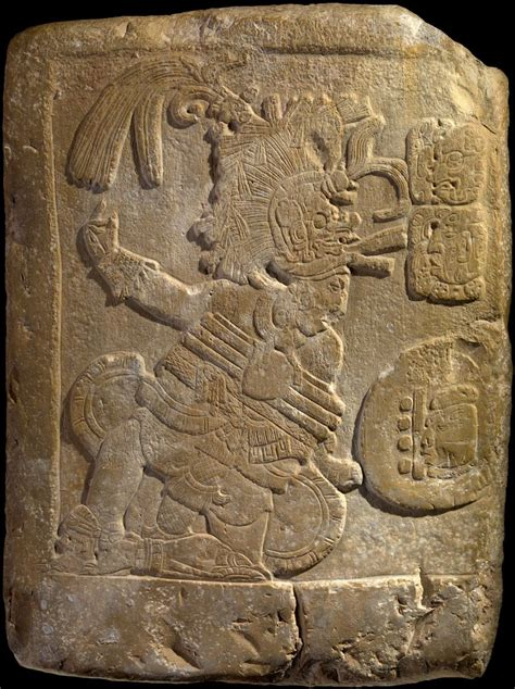 maya bas relief depicting  ball player ad