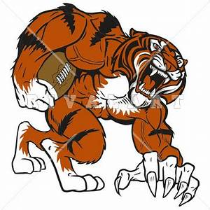 Mascot Clipart Image of Tigers Football Player Graphic ...