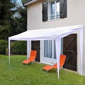 Tonnelle Terrasse : auvent de terrasse en toile achat vente tonnelle ~ Melissatoandfro.com Idées de Décoration
