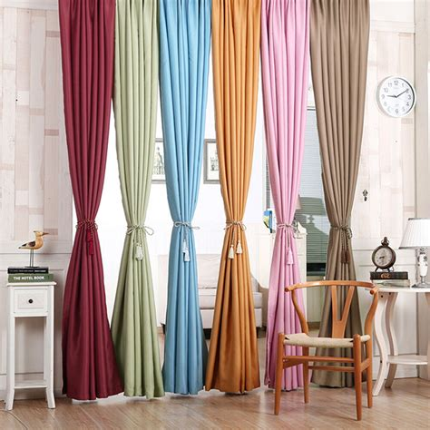Draped Curtains - solid lined thermal thick blackout window curtain drape