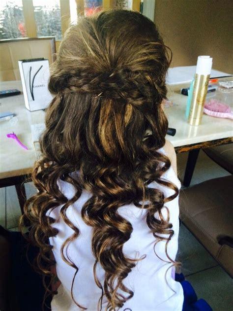 lovely curls half up half down plaits gorgeous communion