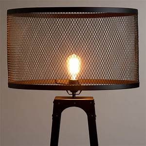 Riveted floor lamp shade world market for Floor lamp with wire shade