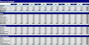 personnel budget template - personal budget template printable templates