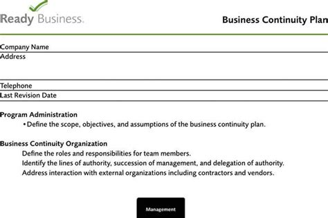 3+ Business Continuity Plan Template Free Download
