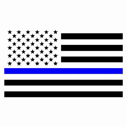 Flag Line Thin American Police Law Decal