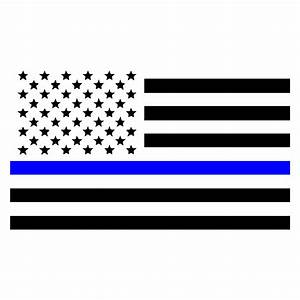 Thin Blue Line American Flag Law Enforcement Car Window