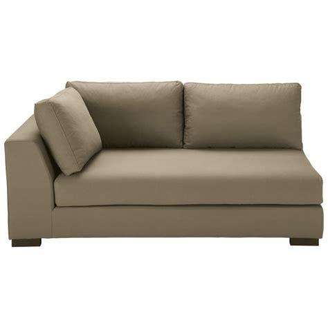 accoudoir de canapé canapé modulable accoudoir gauche en coton taupe terence