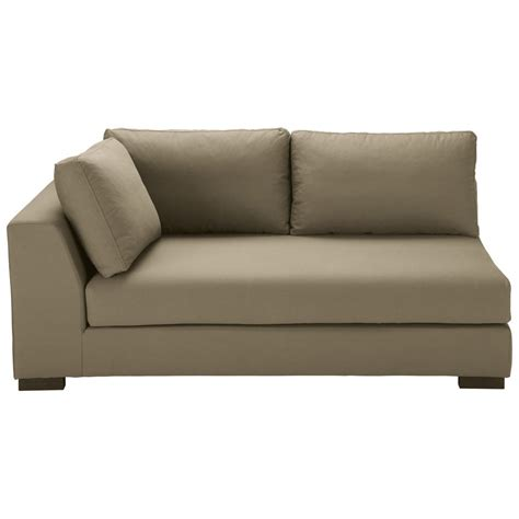 canapé 10 fois sans frais canapé modulable accoudoir gauche en coton taupe terence