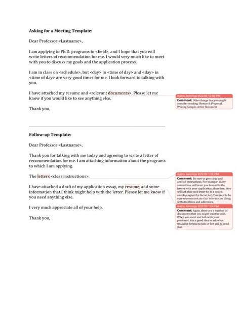Letter To Ask For Recommendation by Recommendation Letter For Graduate School From Professor