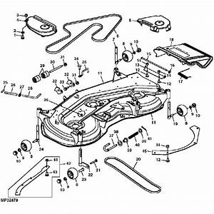 John Deere Oem 54 U0026quot  Convertible Mower Deck Shell