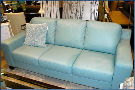 Teal Blue Leather Sofa Alec Leather Sofa Furniture Macy S