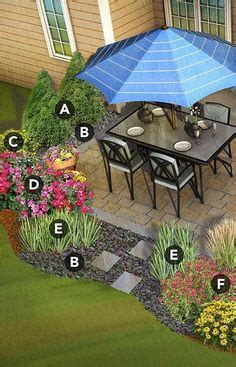 landscaping   square patio google search