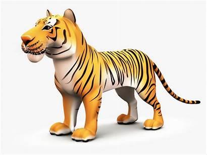 Tiger Cartoon 3d Obj Clipart Thumbnail Toon