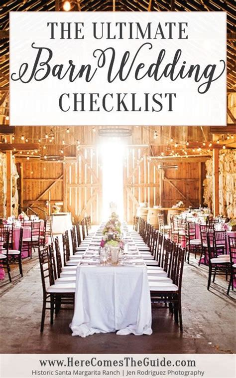 The Ultimate Barn Wedding Checklist (With images