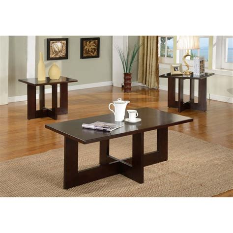 The large table can then swing open and be 7. Shop Solid Wood Rectangle Coffee Table Set - Free Shipping Today - Overstock.com - 7604307