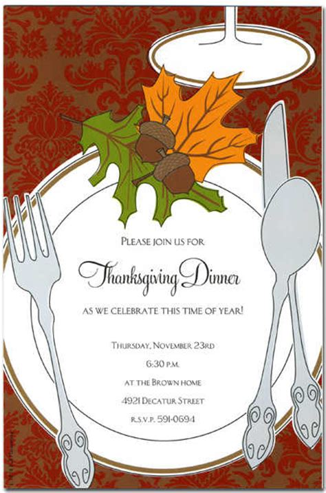 Thanksgiving Invitation Templates Free Word by Autumn Invitations Autumn Invitations For Special Events