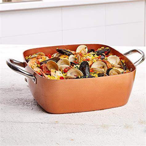 copper chef   casserole pan set  piece cooks pantry