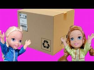 Elsa and Anna toddlers buy toys online and get a huge ...