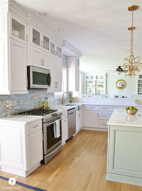 white coastal kitchen coastal kitchen makeover the reveal 1015