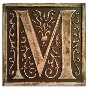 Initial letter wall plaque by marie ricci for Letter plaques