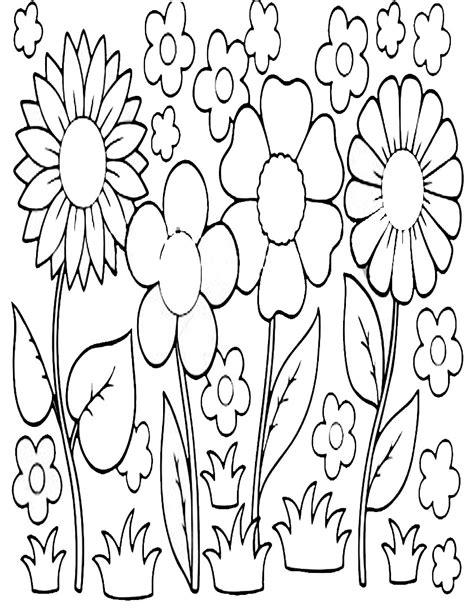 disegni di fiori da colorare e stare disegni di fiori di primavera da stare e colorare