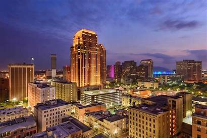 Orleans Louisiana Skyline Estate Cbd Usa Night