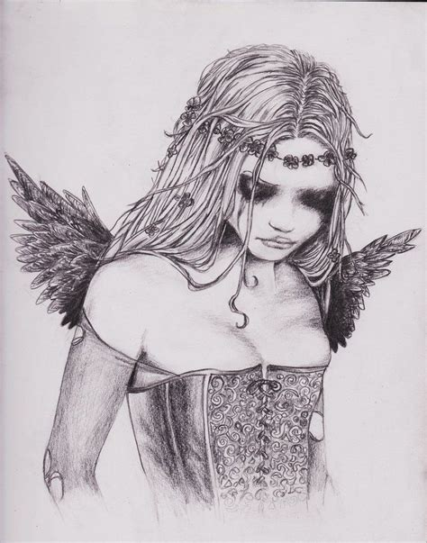 Angel Paintings And Drawings  Crying Angel By Yeah