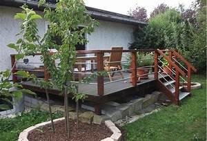Terrasse Höher Als Garten : holzgestaltung im garten ~ Orissabook.com Haus und Dekorationen