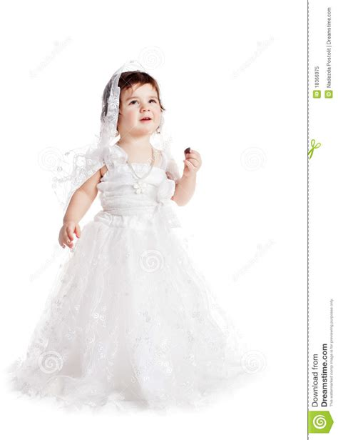 infant wedding dresses baby in a white wedding dress royalty free stock photo image 18366975
