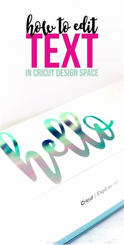 Cricut Space Text Edit Fonts Tutorial Word