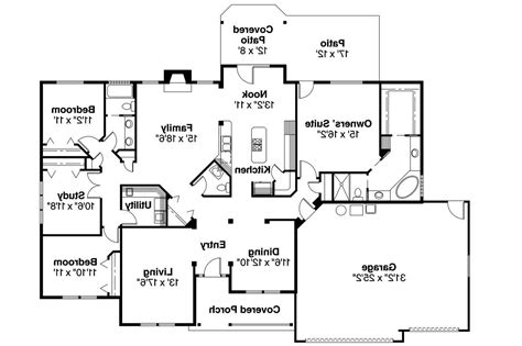 impressive large ranch house plans  ranch style house