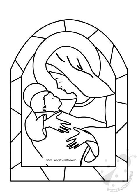 disegni madonna con bambino da colorare 15 disegni madonna da colorare per bambini migliori