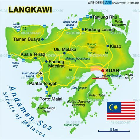 map  langkawi island  malaysia welt atlasde