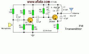 Wireless Microphone Electronic Circuit Diagram