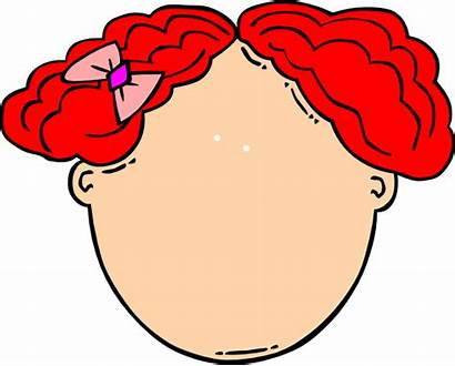Blank Clip Face Clipart Hair Template Empty