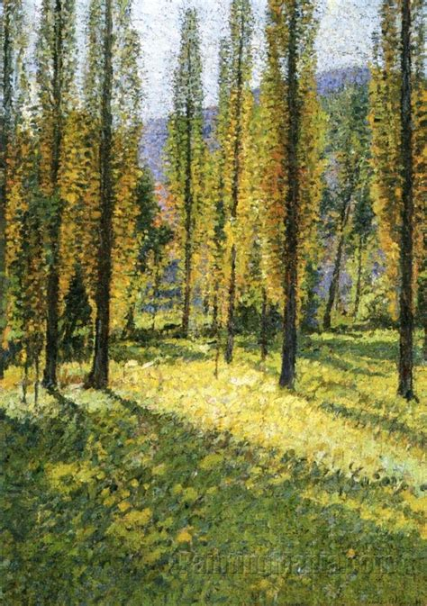 Poplars - Henri Martin Paintings