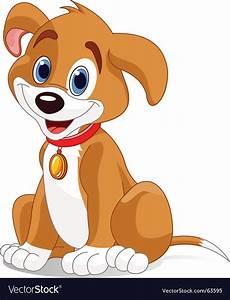 Cute dog Royalty Free Vector Image - VectorStock