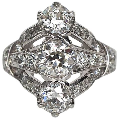 1920s deco engagement rings 1920s and co deco platinum engagement ring at 1stdibs