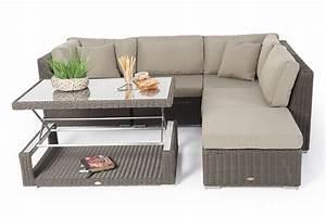 schone rattan lounge garten lounge mit rattan tisch up down With französischer balkon mit garten lounge mit hohem tisch
