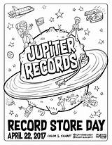 Coloring Record Jupiter Records Mcillustrator Getcolorings Printable sketch template