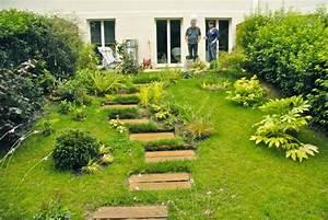 terrasse jardin pente With jardin en terrasse en pente