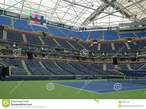 Newly Improved Arthur Ashe Stadium At The Billie Jean King