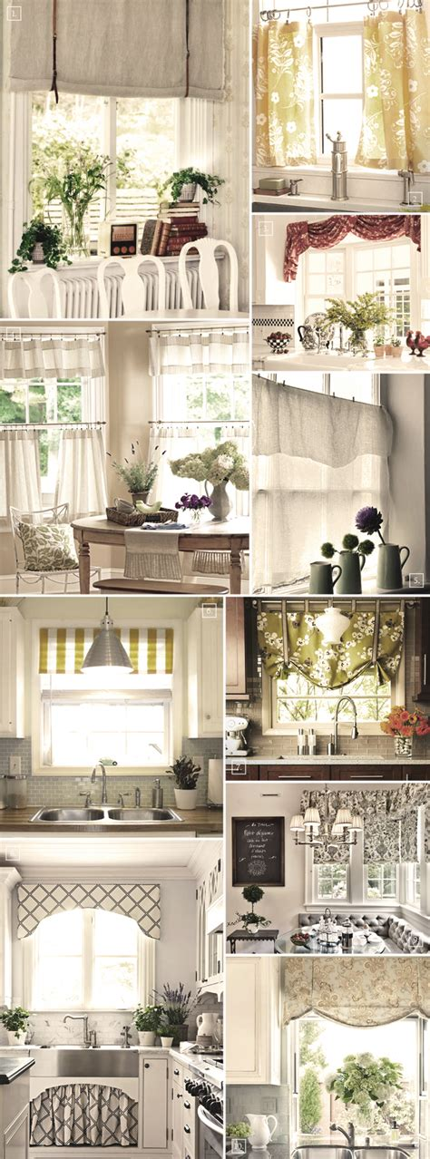 decorating  windows   kitchen curtain ideas