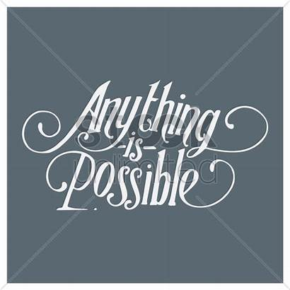 Quote Possible Anything Vector Quotes Stockunlimited Font