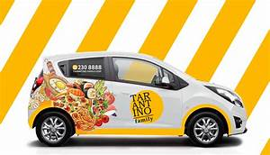 Free, Mockup, Delivery, Car, On, Behance