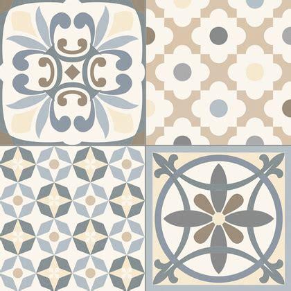 modele papier peint cuisine carrelage style ancien ciment gris heritage grey 33x33 cm