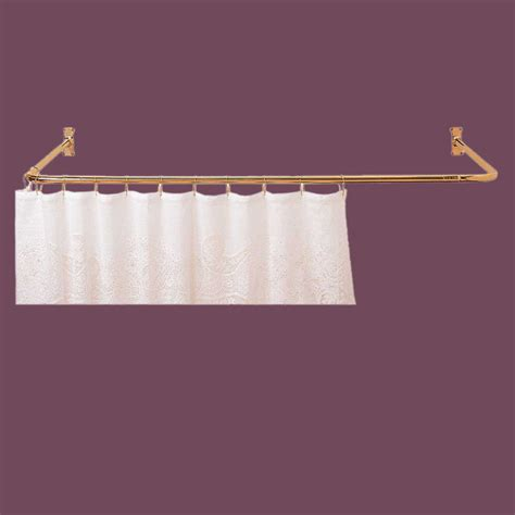 shower curtain rods bright solid brass 3 sided shower